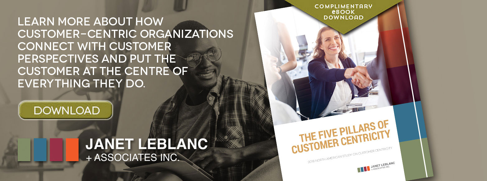 "Learn more about how customer-centric organizations connect with customers perspectives and put the customer at the centre of everything they do. Download the ebook ""The Five Pillars of Customer Centricity"""