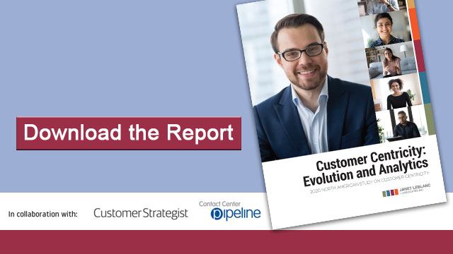 Download the 2020 report on Customer Centricity